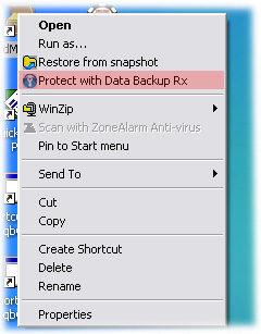 Intuitive Data Backup interface - simple to use and backup data