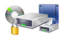 lock-down hdd floppy CDROM and external drives